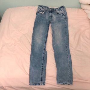 "American eagle size 0 skinny ""super stretch"" jeans"